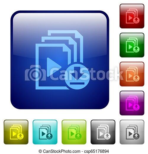 Download playlist color square buttons - csp65176894