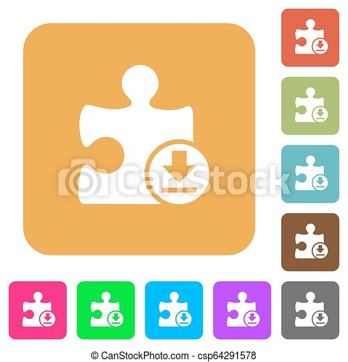 Download plugin rounded square flat icons - csp64291578