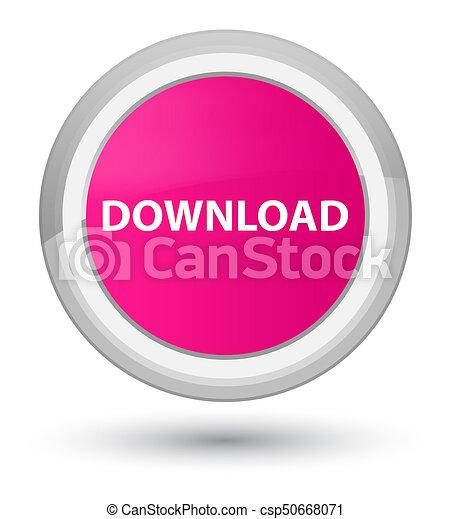Download prime pink round button - csp50668071