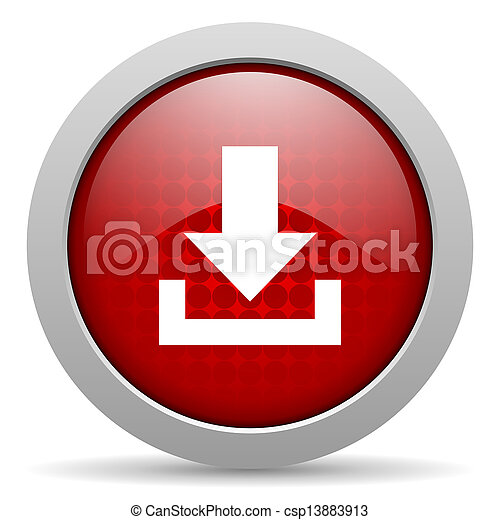 download red circle web glossy icon - csp13883913