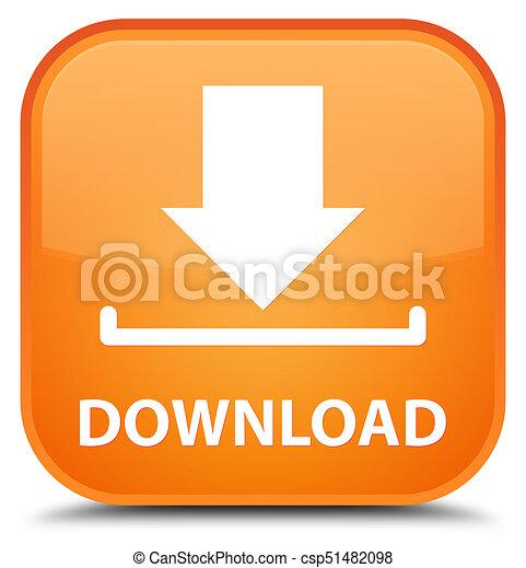 Download special orange square button - csp51482098