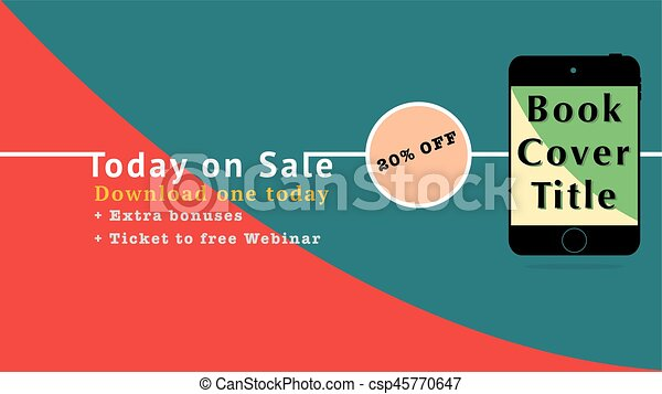 Download The Ebook Graphics With Replaceable Title Cover With Sale Discount Advertise Mock Up For Ebook Advertise Social Media Ads Convert