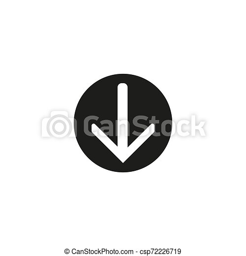 download vector icon, circle flat design internet button, web and mobile app illustration - csp72226719