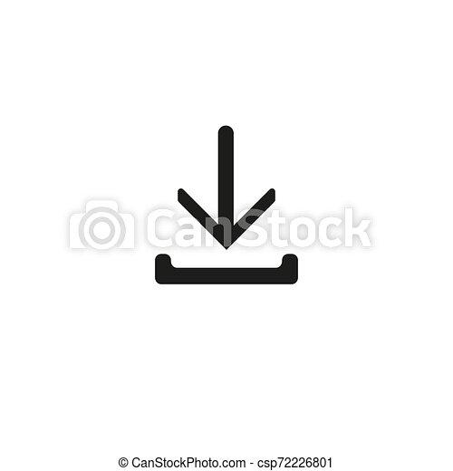 Download - Vector icon Download Icon Vector Download icon Download- Vector icon - csp72226801