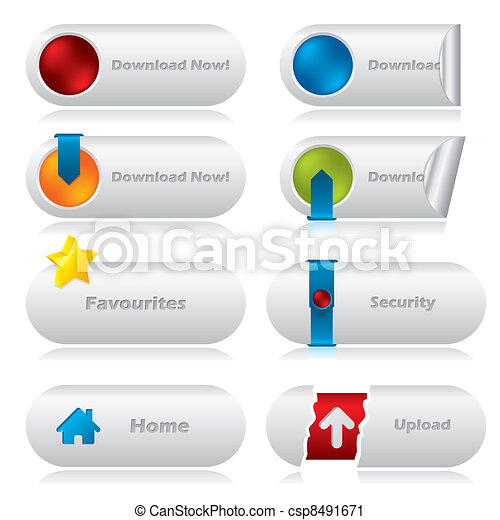 Download web buttons with various elements - csp8491671