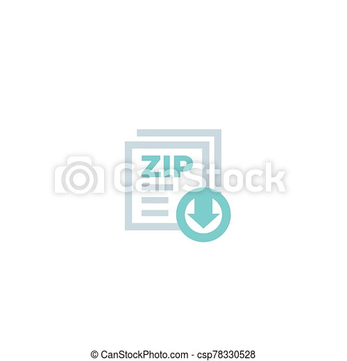 download zip file icon - csp78330528