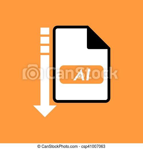 downloaden, ai, symbool, bestand - csp41007063