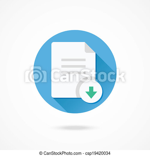 downloaden, vector, document, pictogram - csp19420034