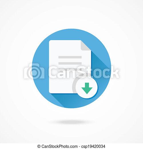 downloaden, vector, document, pictogram - csp19420034