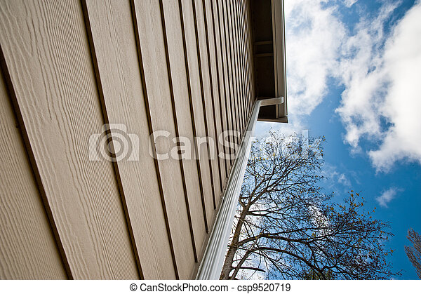 Downspout and siding - csp9520719