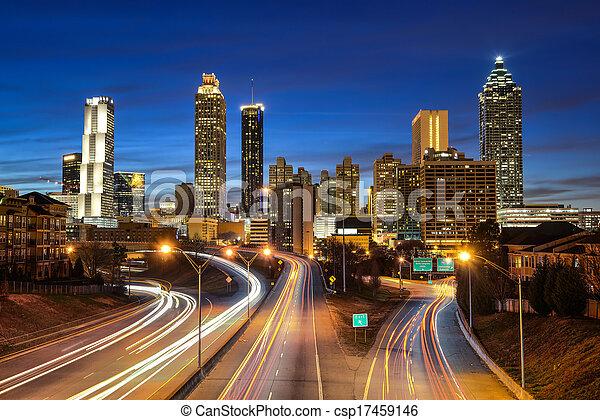 downtown, atlanta, skyline - csp17459146