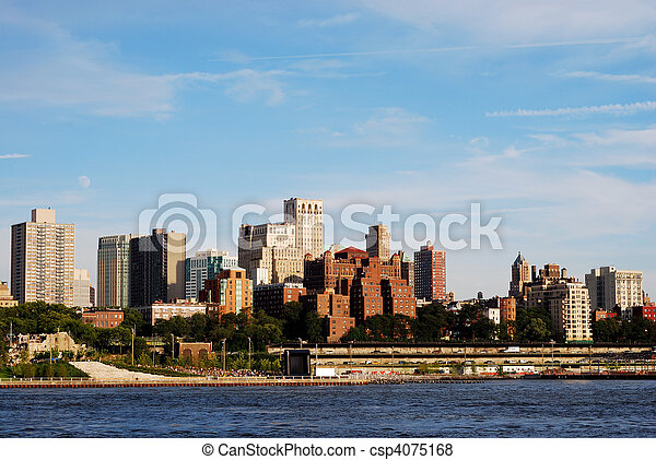 Downtown Brooklyn skyline in NY - csp4075168