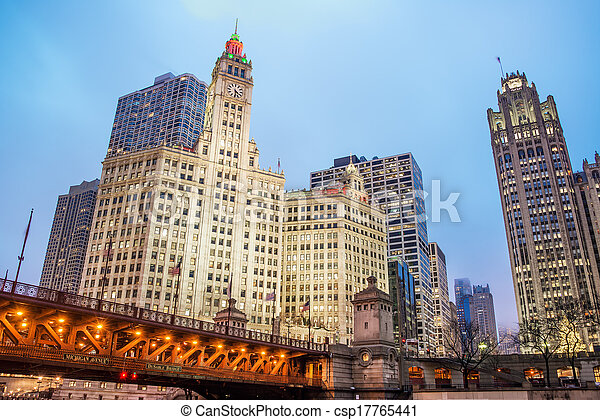 Downtown Chicago View - csp17765441