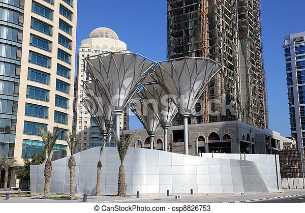 Downtown district West Bay in Doha, Qatar, Middle East - csp8826753