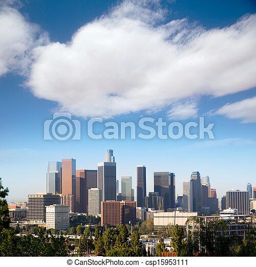 Downtown LA Los Angeles skyline California - csp15953111
