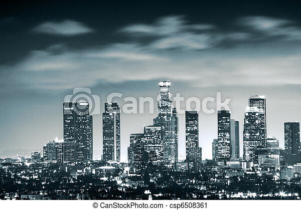 Downtown Los Angeles skyline - csp6508361