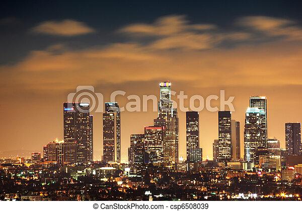 Downtown Los Angeles skyline - csp6508039