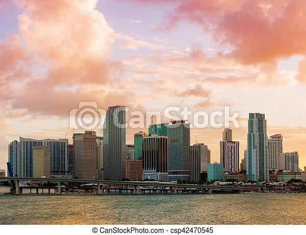Downtown Miami, Florida - csp42470545