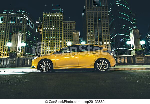 Downtown Parked Car - csp20133862