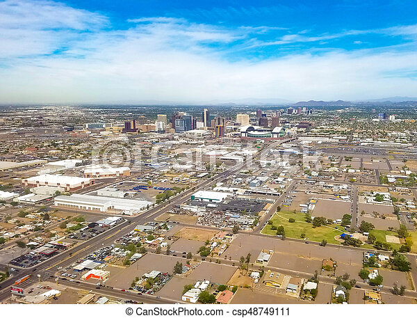 Downtown Phoenix, Arizona - csp48749111