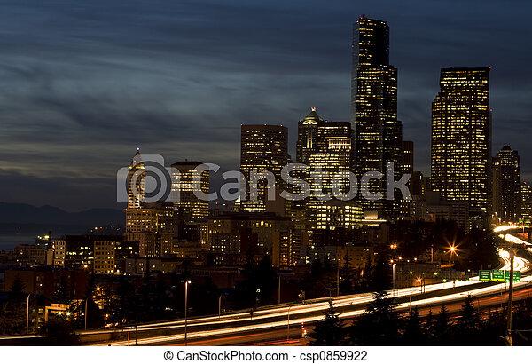 Downtown Seattle - csp0859922