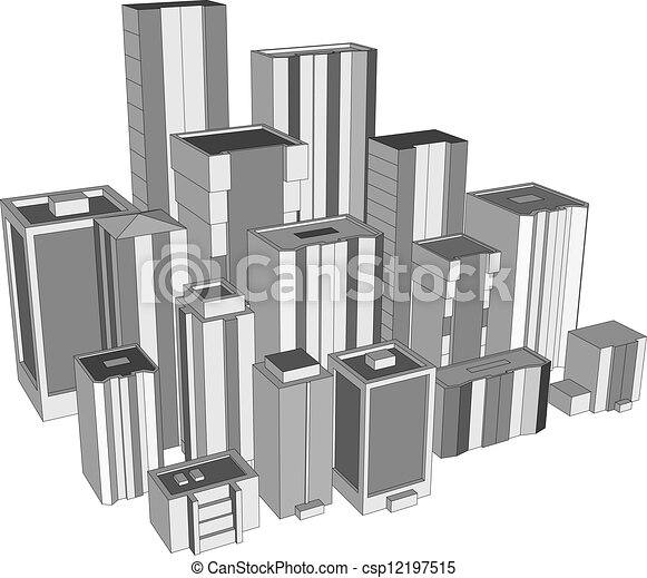 Downtown Skyscrapers Modern Skyscraper 3d Buildings Joint