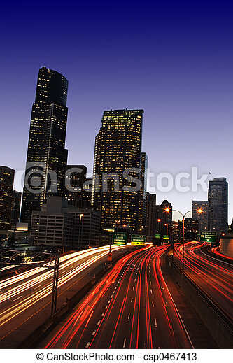 Downtown traffic - csp0467413