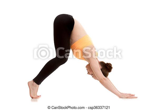 downwardfacing dog yoga pose for beginner beginner yoga