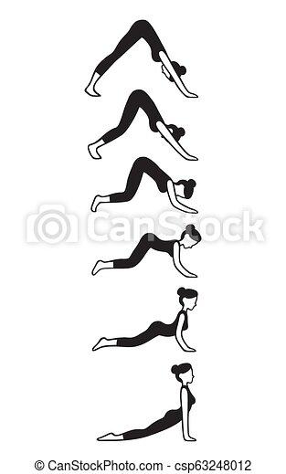 downward to upward facing dog yoga flow downward facing