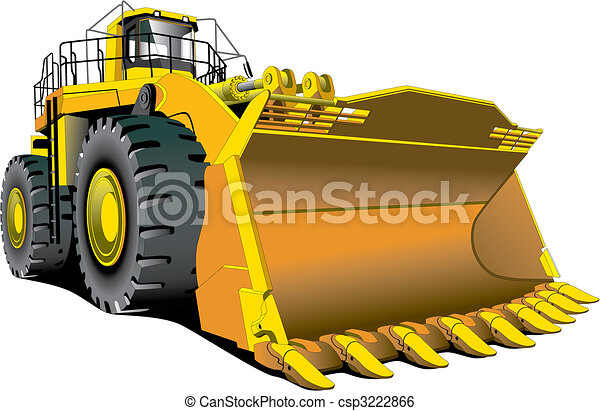 detailed vectorial image of large dozer isolated on white background rh canstockphoto com dozer clip art free images dozer clipart free