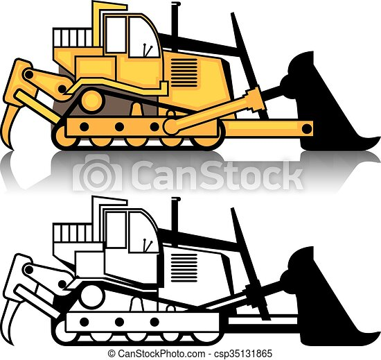 dozer clip art vector search drawings and graphics images rh canstockphoto com animated bulldozer clipart caterpillar bulldozer clipart