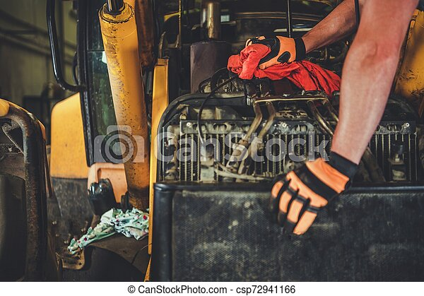 Dozer Repair by Mechanic - csp72941166