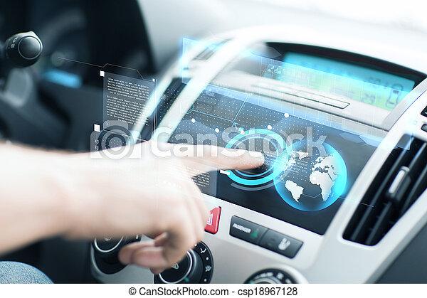 dozor, pouití, voják, vůz, deska - csp18967128