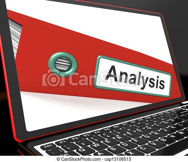 draagbare computer, analyse, bestand, geanalyseerde, data, het tonen - csp13106513