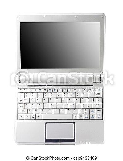 draagbare computer, scherm, aluminium, leeg - csp9433409