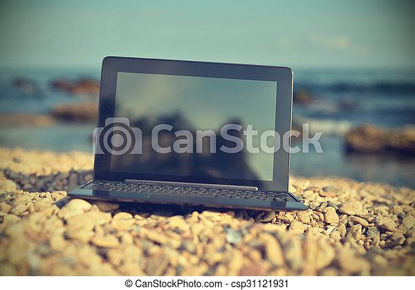 draagbare computer, scherm, leeg - csp31121931