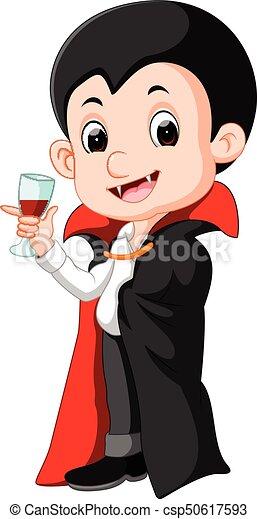 Dracula cartone animato sangue vetro vetro cartone animato