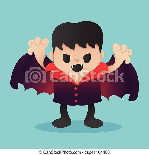 Dracula Cartoon in Halloween - csp41164408
