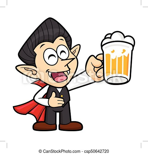 dracula character is holding a beer toast halloween day vector rh canstockphoto com dracula face clipart dracula clipart free
