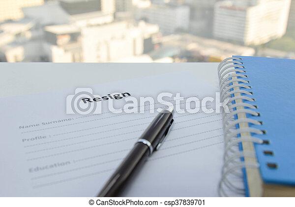 draft of resignation letter
