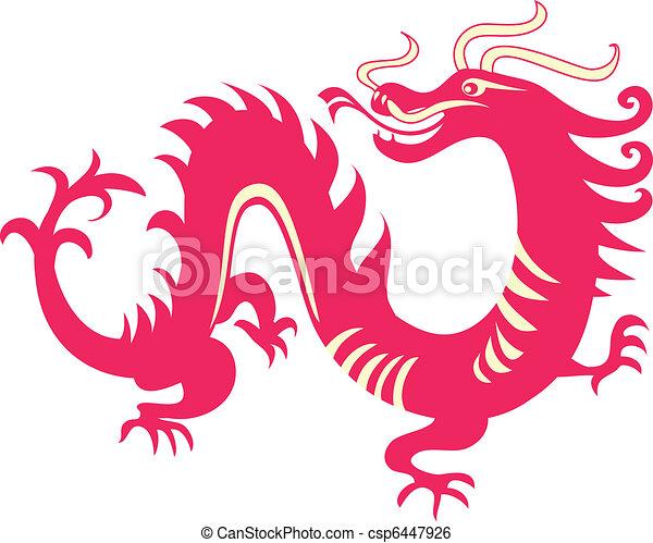 dragão, chinês - csp6447926