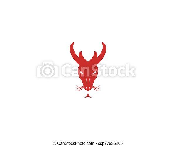 dragón, vector, ilustración, icono - csp77936266