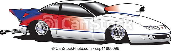 Drag race car - csp11880098