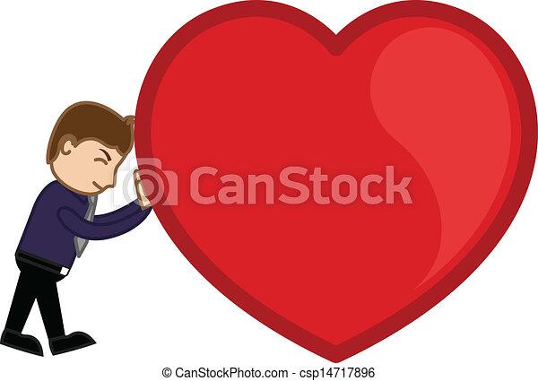 Dragging a Heavy Heart Vector - csp14717896