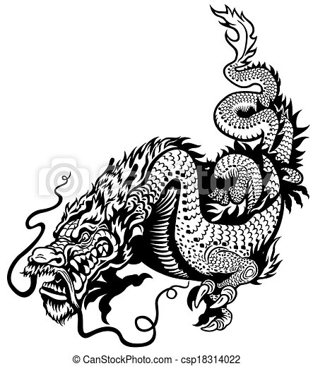 dragon black white dragon black and white illustration vector rh canstockphoto com baby dragon clipart black and white cute dragon clipart black and white