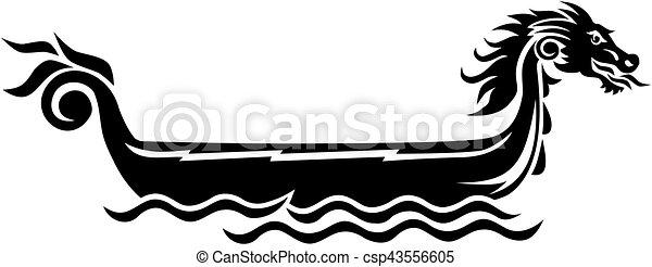Dragon Boat Icon Vector Clipart
