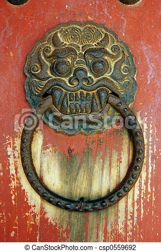 Dragon Door - csp0559692 & Dragon door. Old asian door handle in the shape of a dragon\\\u0027s ...