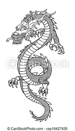 Dragon Drawing   Csp16427435