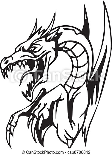 Dragon - Halloween Set - vector illustration - csp8706842