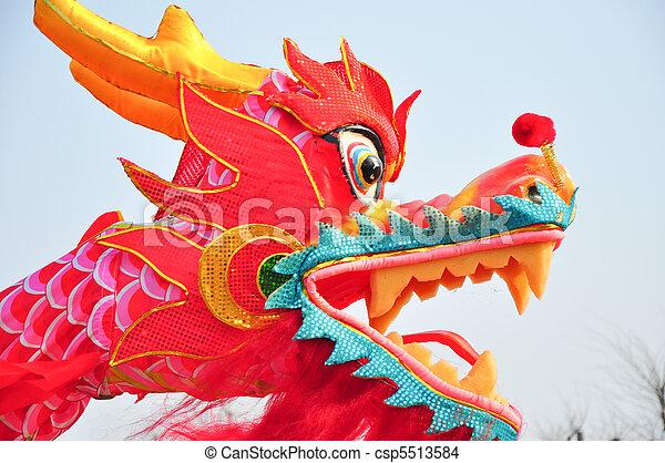 dragon head 1 chinese new year parade in jinan china